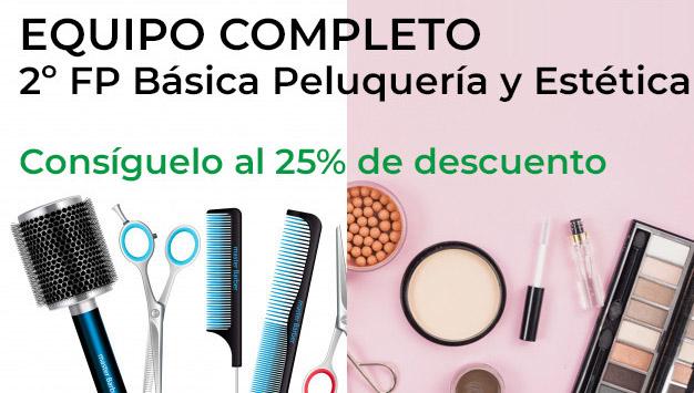 equipo completo primero de fb basico de peluqueria y estetica burlada